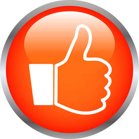 This is an illustration of Colorful Shiny round button with Thumbs Up mark. Vecteurs