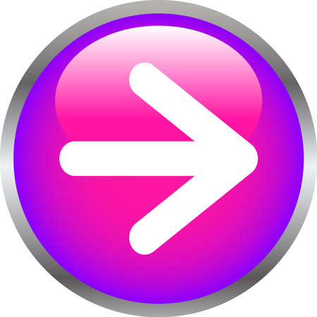 This is an illustration of Colorful Shiny round button with Right arrow.