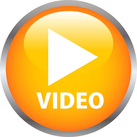 This is an illustration of Colorful Shiny round button with video mark.