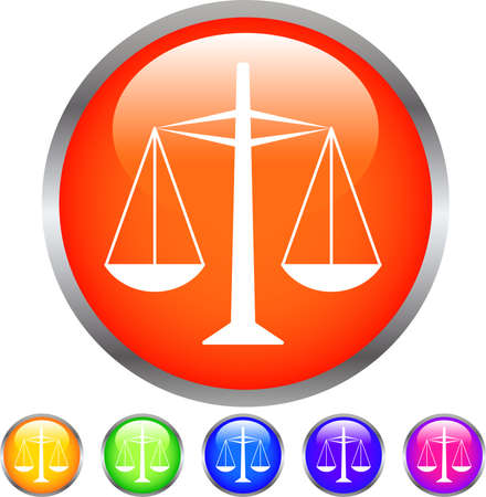 Colorful Shiny round button with steelyard mark set Çizim