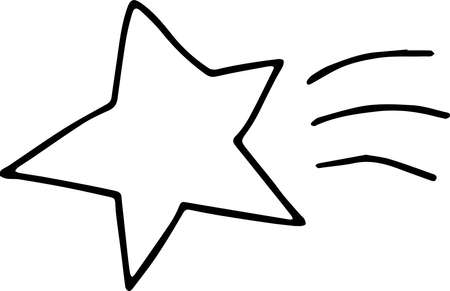This is an illustration of hand-drawn sparkling star. 일러스트