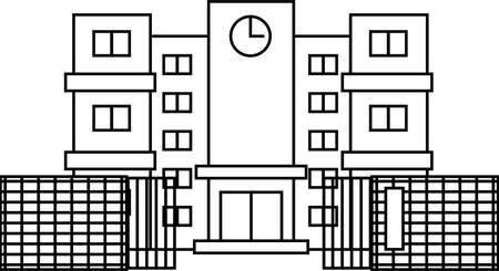 This is an illustration of a Japanese school. Stock Illustratie