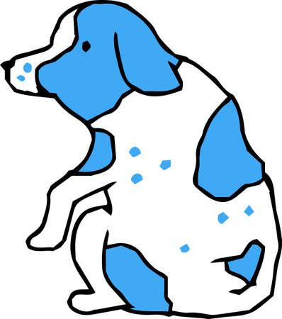This is an illustration of a cute dog handwritten. Illusztráció