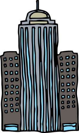 This is a rough sketch of a skyscraper.