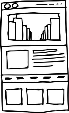 This is a rough sketch of the website mockup.