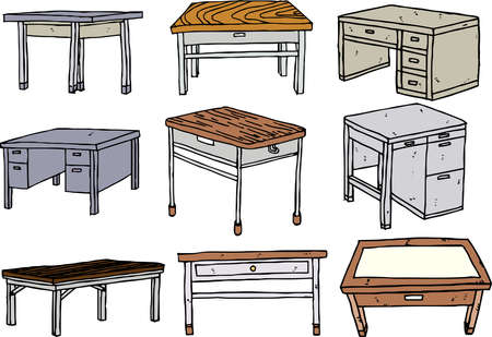 This is a rough sketch of the desk. Stock Illustratie