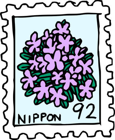 This is a rough sketch of Japanese stamps.