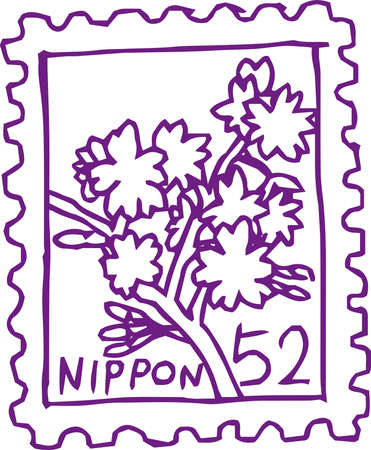 This is a rough sketch of Japanese stamps.  イラスト・ベクター素材