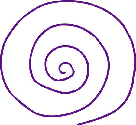 This is a rough sketch of a spiral pattern. Stock Vector - 118209391