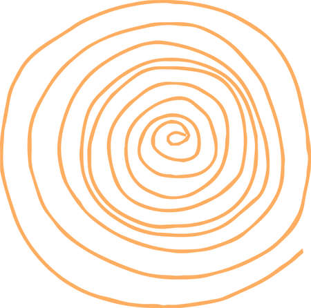 This is a rough sketch of a spiral pattern. Stock Vector - 118209404