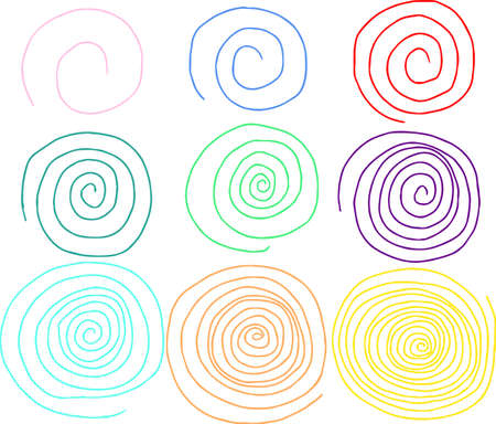 This is a rough sketch of a spiral pattern. Stock Vector - 118209406