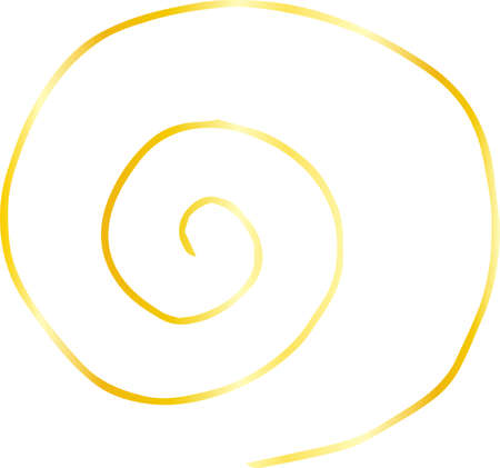 This is a rough sketch of a spiral pattern. Stock Vector - 118067889
