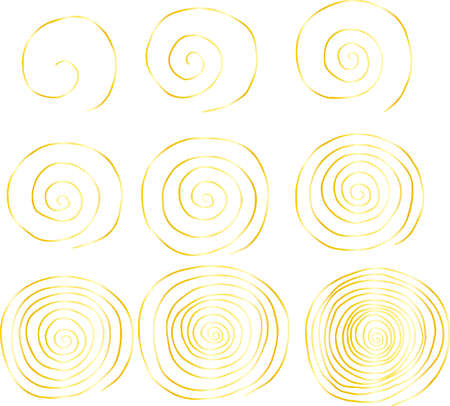 This is a rough sketch of a spiral pattern. Stockfoto - 124745308