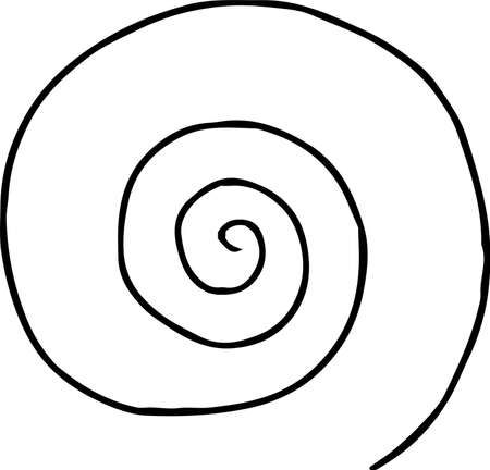 This is a rough sketch of a spiral pattern. Stock Vector - 118209436