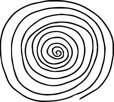 This is a rough sketch of a spiral pattern.
