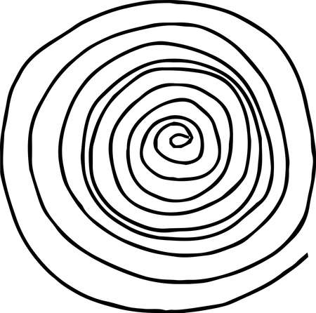 This is a rough sketch of a spiral pattern. Stock Vector - 118209689