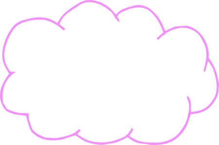 This is a rough sketch of clouds. 스톡 콘텐츠 - 120325903