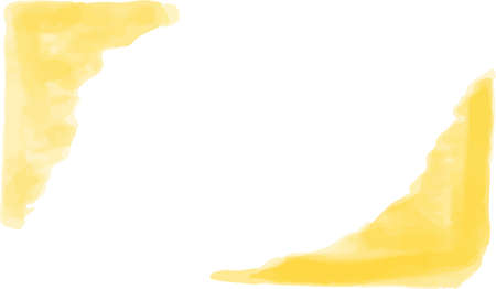 This is a horizontal watercolor background illustration with a margin.
