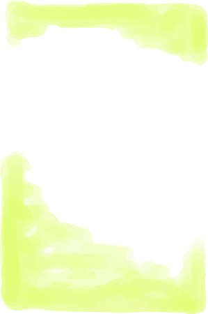 This is a vertical watercolor style background illustration with margins. Çizim