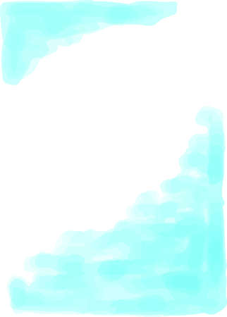 This is a vertical watercolor style background illustration with margins. Ilustrace