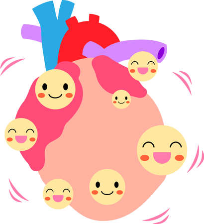 This is an illustration of a cute heart.