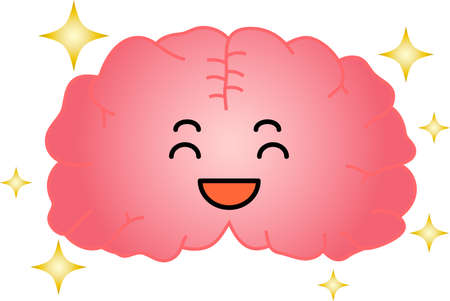 This is an illustration of a cute brain. Illustration