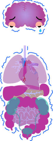 Here is an illustration of a cute human organ.
