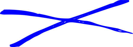 This is a Horizontal cross mark illustration.