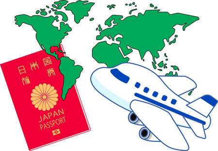 This is a Illustration of Japanese passport.