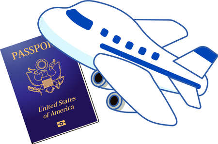 This is the Illustration of a American passport.  イラスト・ベクター素材