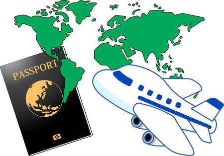 This is the Illustration of a passport. Standard-Bild - 125019404