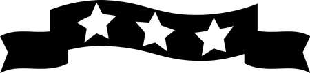 This is an illustration of a three star title ribbon. Ilustração