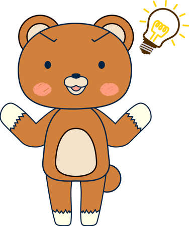 This is a full-length illustration of the cute Bear character set.