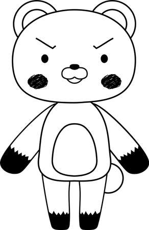 This is a full-length illustration of the cute Bear character set. Stock Vector - 125019191