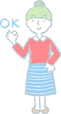 This is a Illustration of a woman face and pose. Vektoros illusztráció