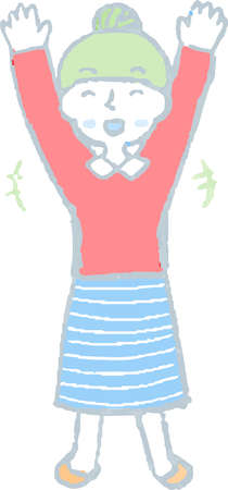 This is a Illustration of a woman face and pose. 일러스트