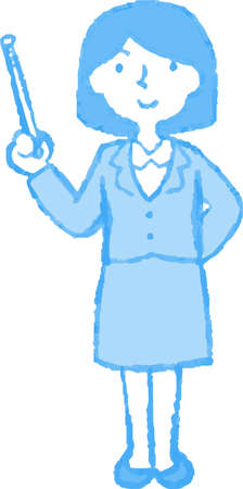 This is an Illustration of a Business woman face and pose.