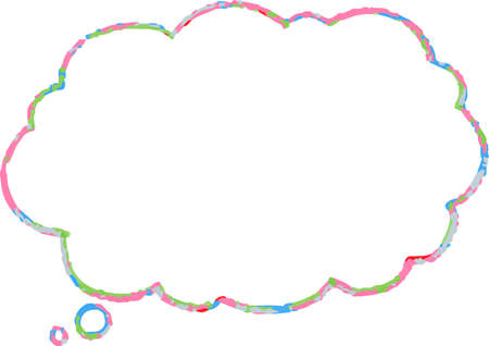 This is a illustration of Cloud-shaped speech bubble drawn. Illustration