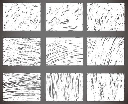 This is a illustration of background drawn with hand drawn lines set  イラスト・ベクター素材