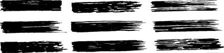 This is a illustration of a long black thick brushstroke Vecteurs