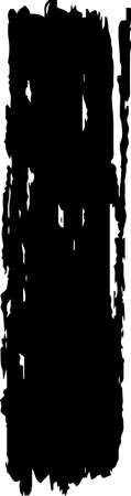 This is a illustration of hand-drawn long black thick brush vertical line