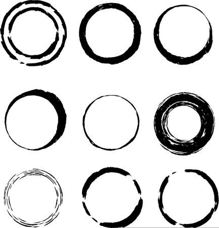 This is a illustration of hand-drawn brushstroke circle