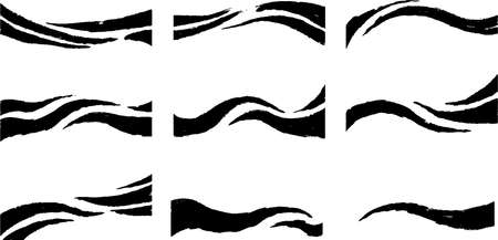 This is a illustration of Hand-painted brushstroke wave line