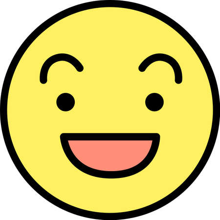 This is a illustration of Round emoticon icon