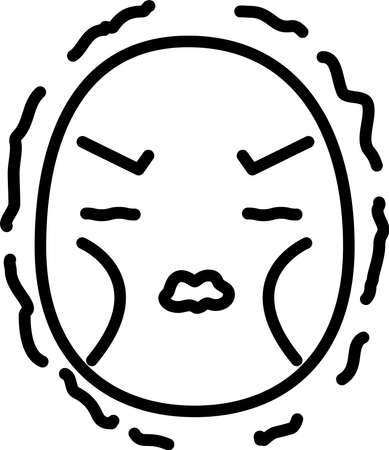 This is a illustration of Thin man emoticon icon set