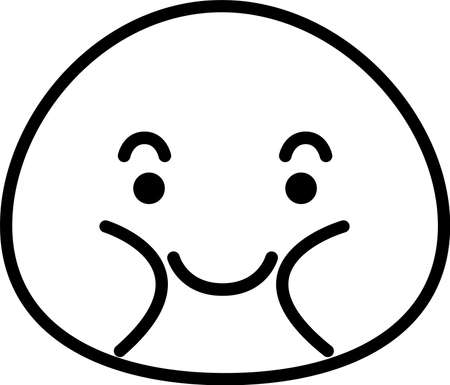 This is a illustration of Fatman emoticon icon