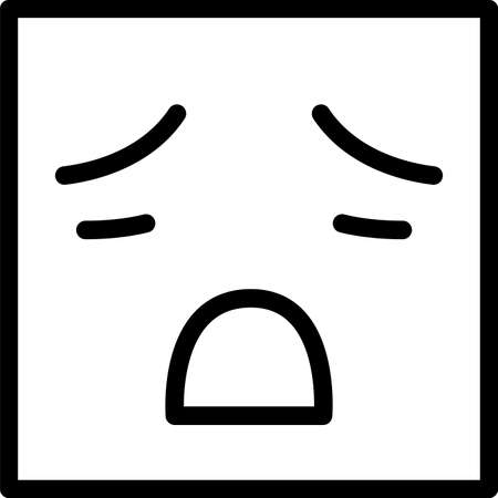 This is a illustration of Square emoticon icon