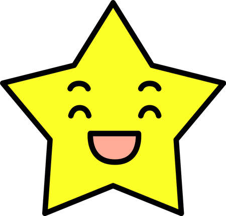 This is a illustration of Blue Star emoticon icon