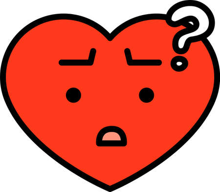 This is a illustration of Heart emoticon icon