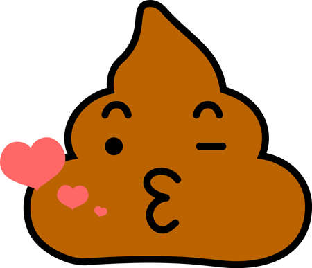 This is a illustration of Poo emoticon icon